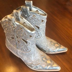 Donald J. Pliner Shoes - Donald J Pliner Ankle Cowgirl Boots Rhinestone